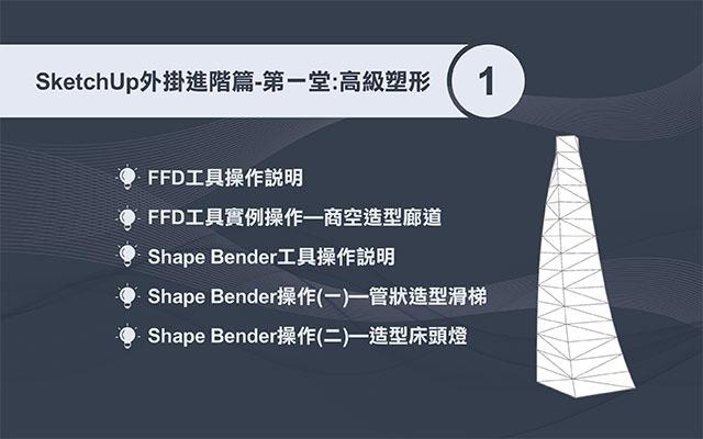 SketchUp 外掛運用(進階一) : 高級塑形